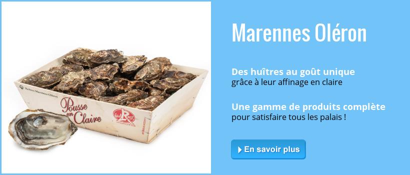 Commandez en ligne vos huîtres marennes d'Oléron, de Loire ou d'Arcachon.