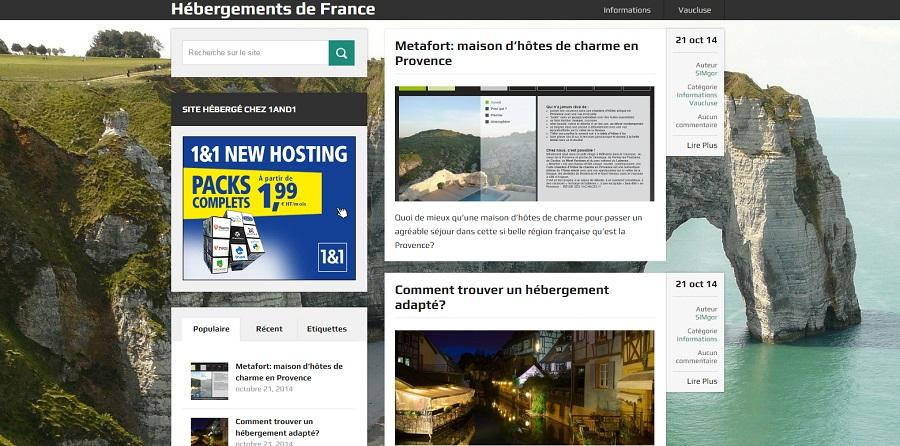 Hébergements de France est une plateforme web qui vous aide à trouver votre hébergement touristique ou d'affaires: gîte, chambre d'hôtes, camping ou hôtel.